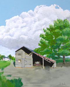 Old gray barn