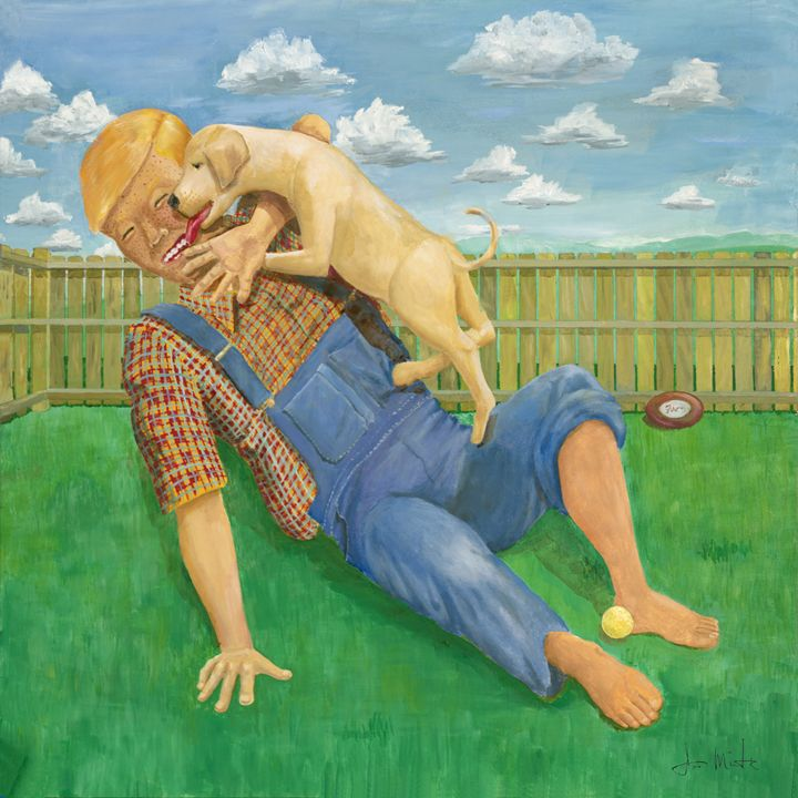 Puppy Love - Joseph Mintz Art