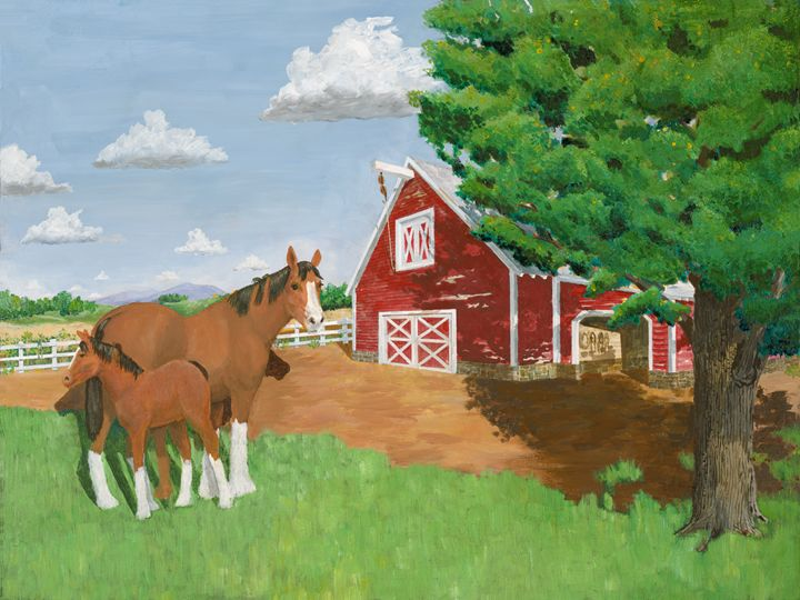 Mare and colt - Joseph Mintz Art