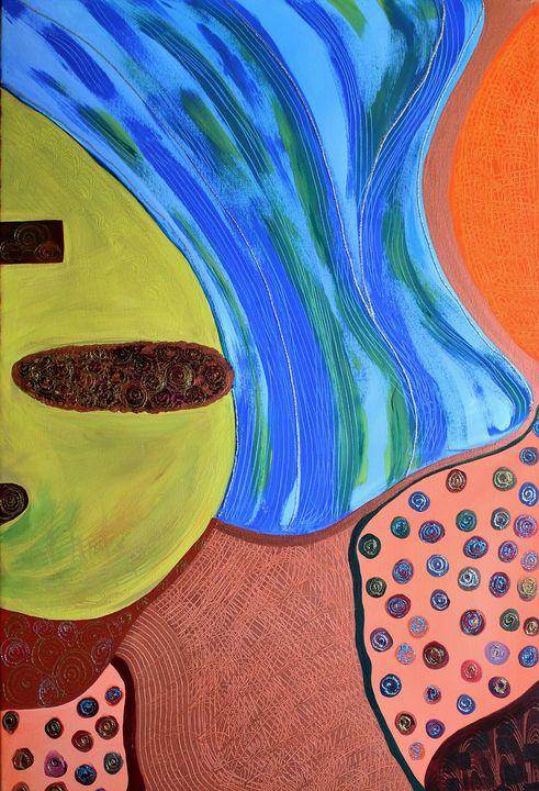 "Underground-24""x36""-Mixed Media - Vega Questell Gallery"