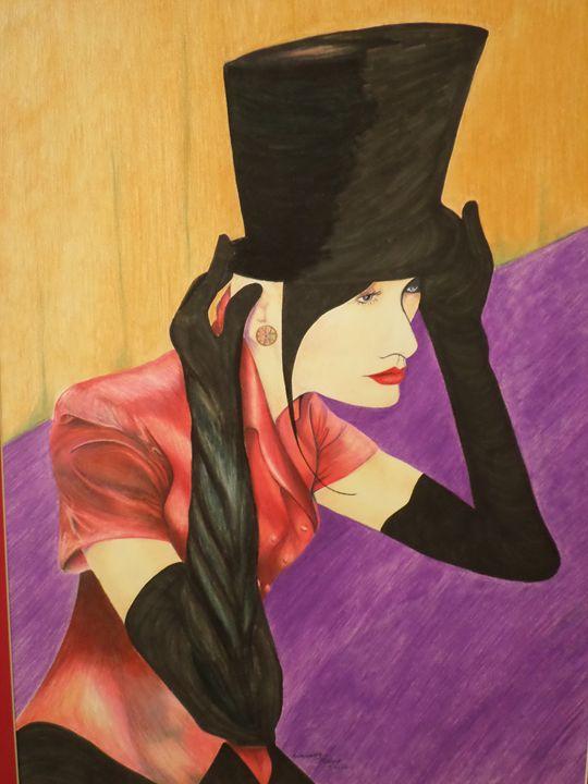Lady in a Top Hat - Antoinette Parker