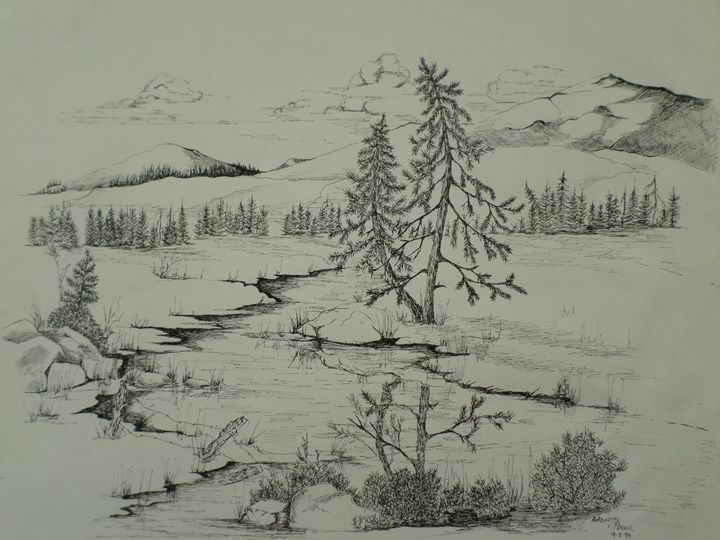 Mountain Stream - Antoinette Parker
