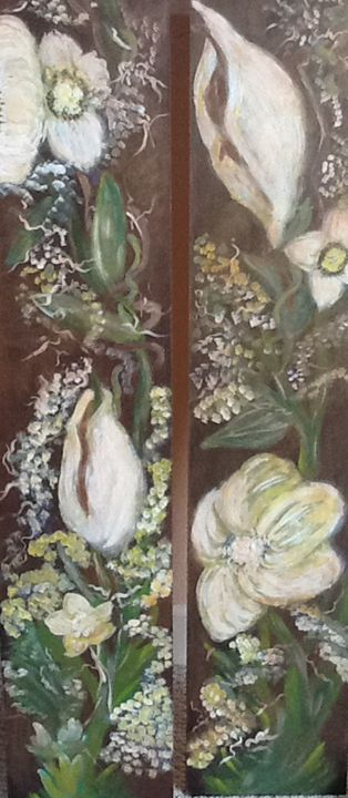 Hand Painted wooden panels - Rachael G
