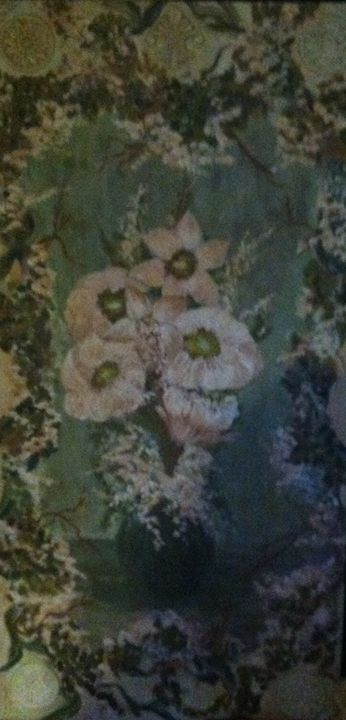 French Country painted wooden panel - Rachael G
