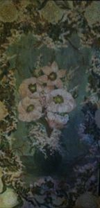 French Country painted wooden panel