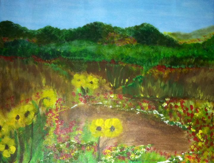 COUNTRY FIELD LANDSCAPE - Rachael G
