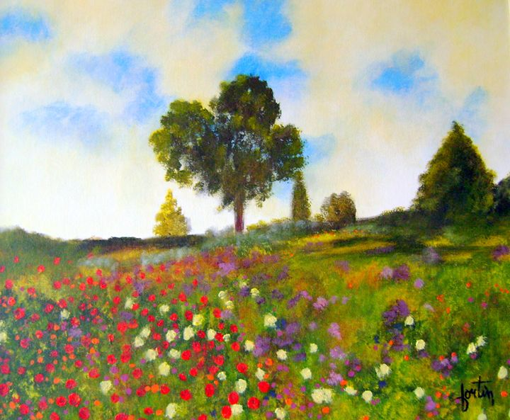 paysages fleuri - galerie fortin lise-marielle