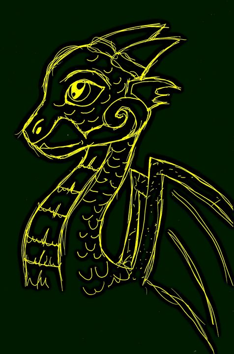 Gold and Green Dragon - In The Realm
