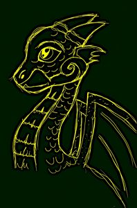 Gold and Green Dragon