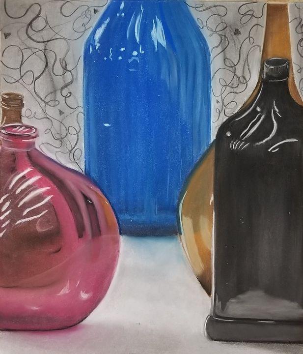 Glass Bottles - Black Cat