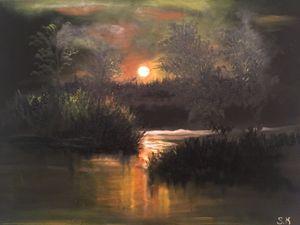 A Moonlit Lake