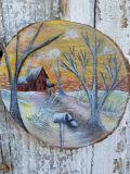 Winter Solitude pine wood circles