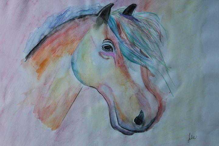 colorful horse - Leire Sedgwick