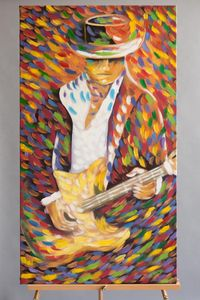 """Guitarist"" Painting by Hose Ejatica"