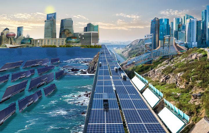 Solar Highway cityscape - Darvin Cruz