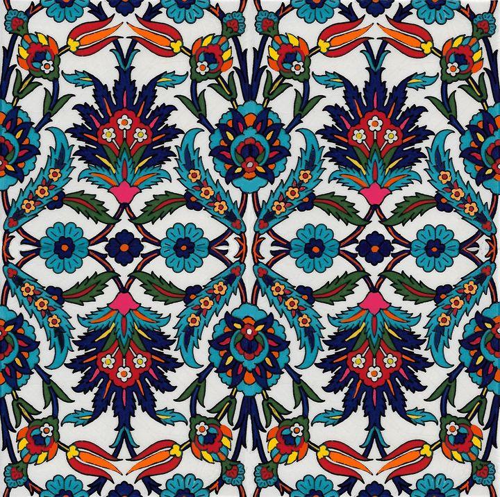 Turkish Pattern Wall Art Olivetreedsg Digital Art Ethnic Custom Turkish Pattern