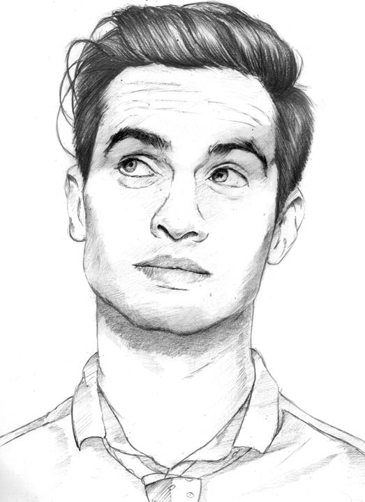 brendon urie sketch drawing 1 - Dans Art Studio