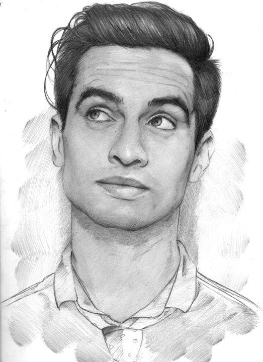 brendon urie sketch drawing 2 - Dans Art Studio