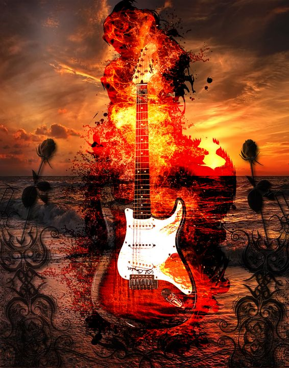Dirty Strat - DangersTeez Digital Art