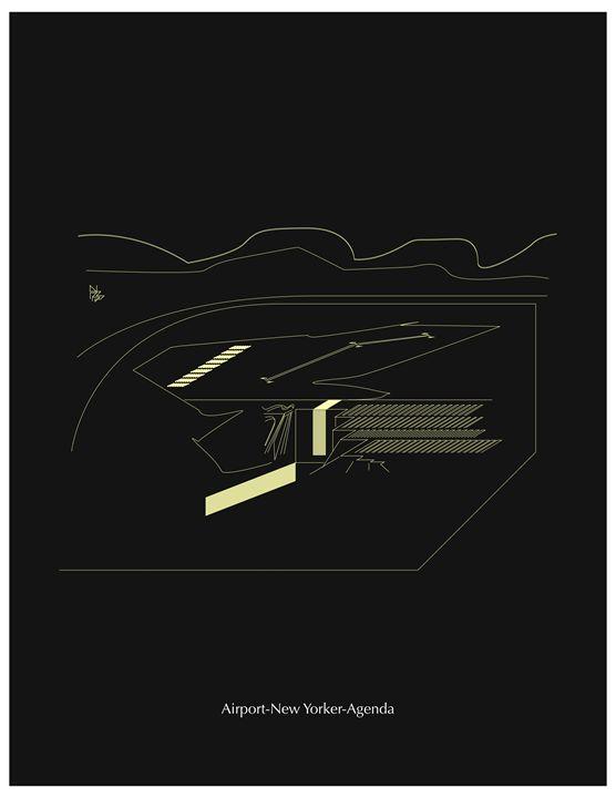 Airport print - Benny Biesek Art