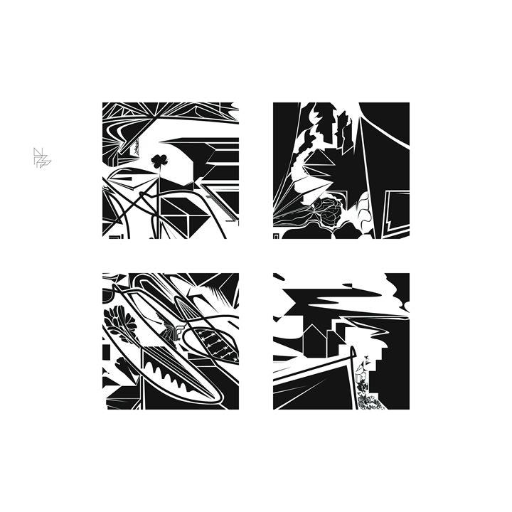 Four details, set (1/9) - Benny Biesek Art