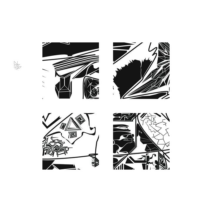 Four details, set (4/9) - Benny Biesek Art