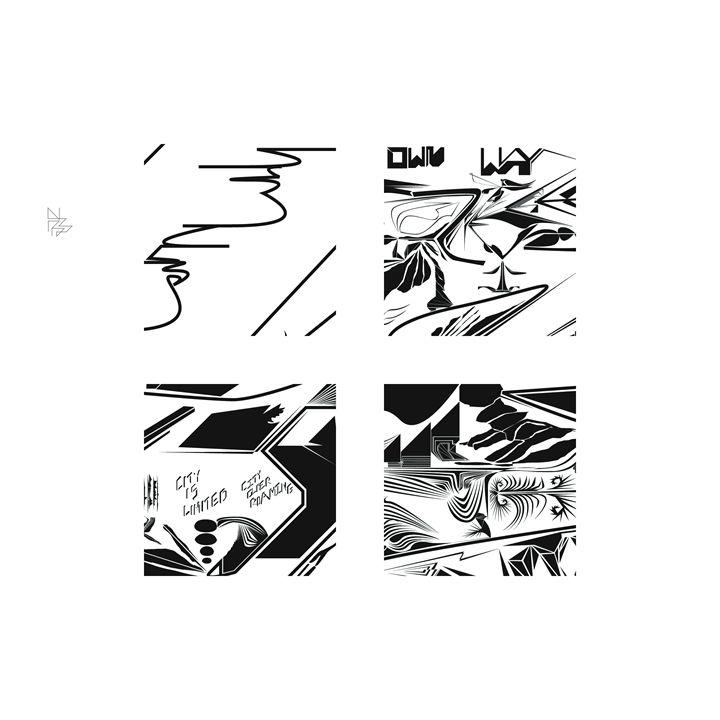 Four details, set (6/9) - Benny Biesek Art