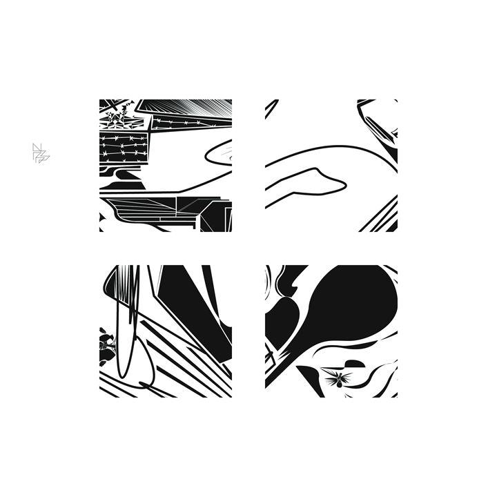 Four details, set (8/9) - Benny Biesek Art