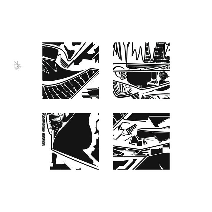 Four details, set; 9/9 - Benny Biesek Art