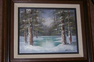WHITLAM SIGNED OIL OF FORREST/WINTER