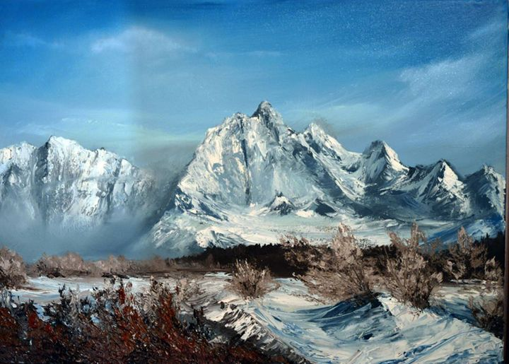 mountains - oil paintings