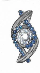 Sapphire Watercolor ring