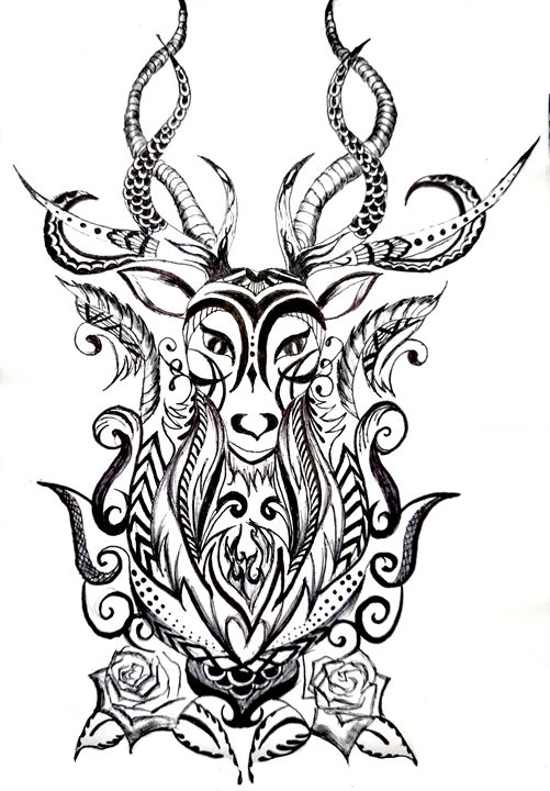 Tribal Deer - Tazy's Gallery