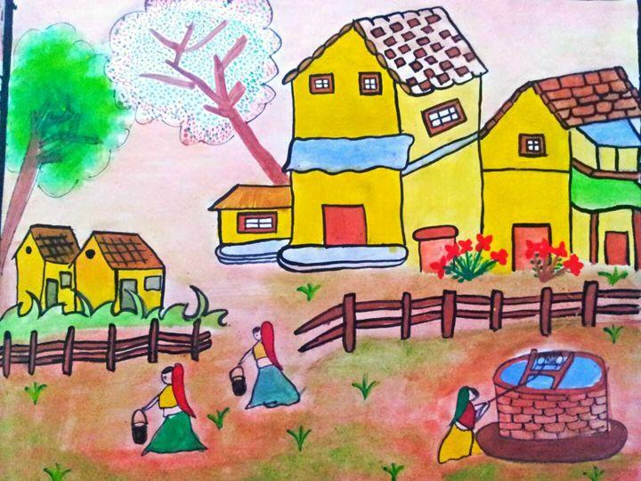 Local indain folk painting - Tanaya art gallary