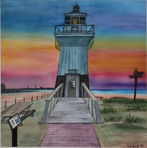 The pride by the sea-the light house