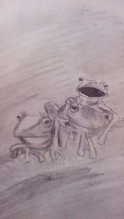 Tree frogs - Rachael's art