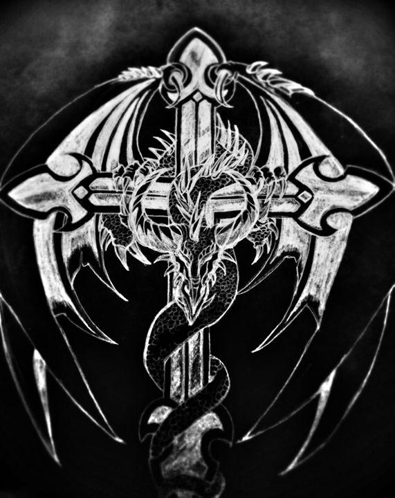 Dragon Cross - half Angel