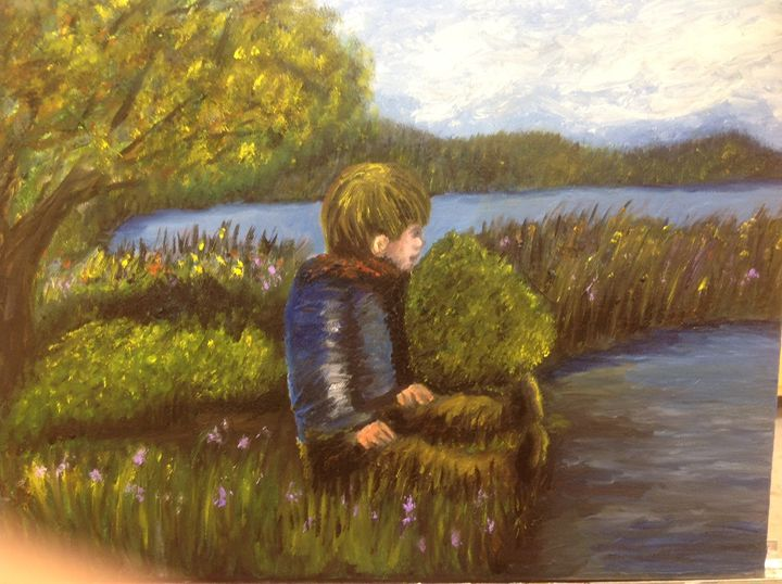 The boys discovery - Eileen's paintings