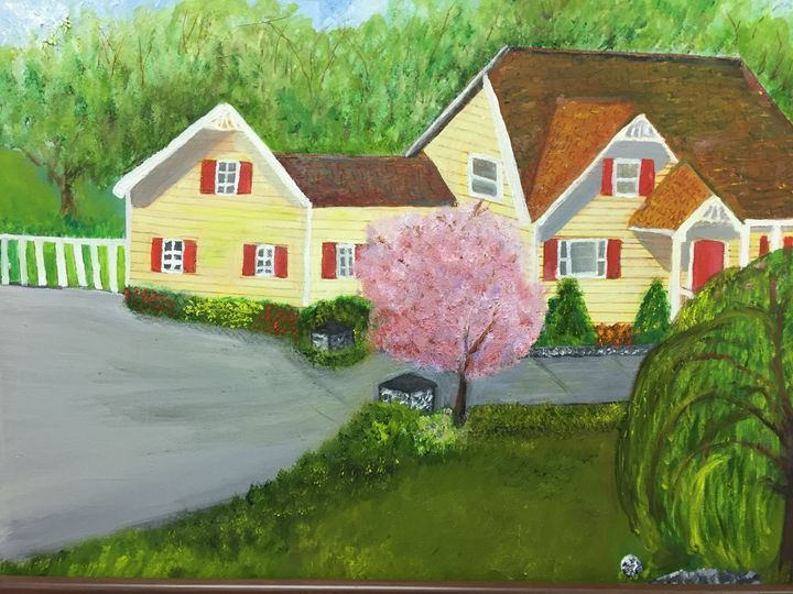House in the Country - Eileen's paintings