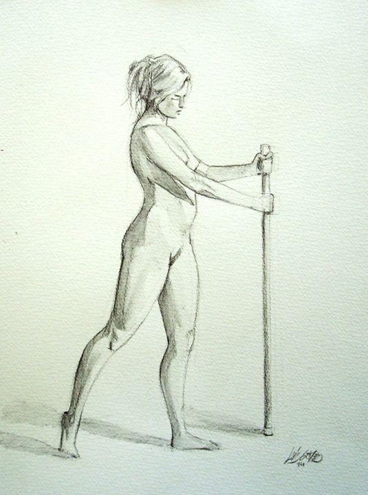 Nude in Wash - Luís Gomes Art