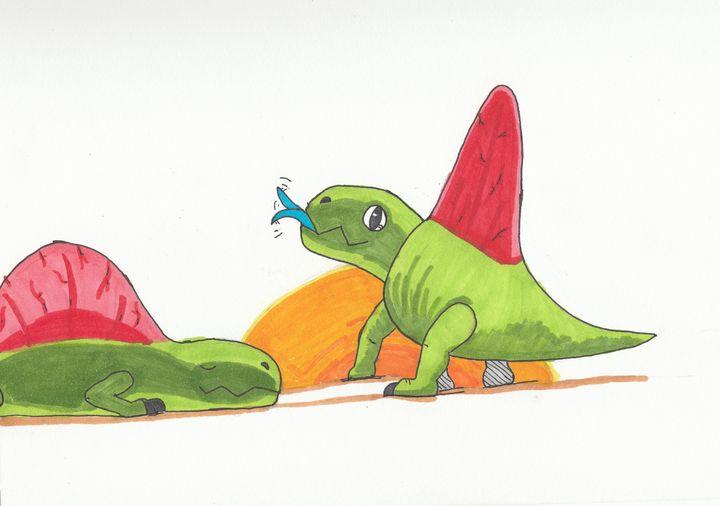 Chibi dimetrodons - The broken teleporter