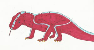 red speckled komodo dragon