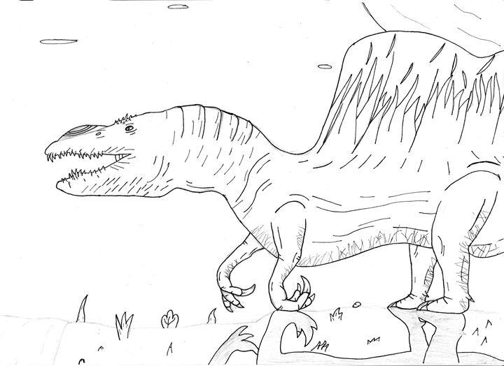 quadrupedal spinosaurus - The broken teleporter