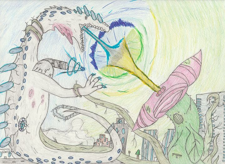 huge lizard vs acid plant finale - The broken teleporter