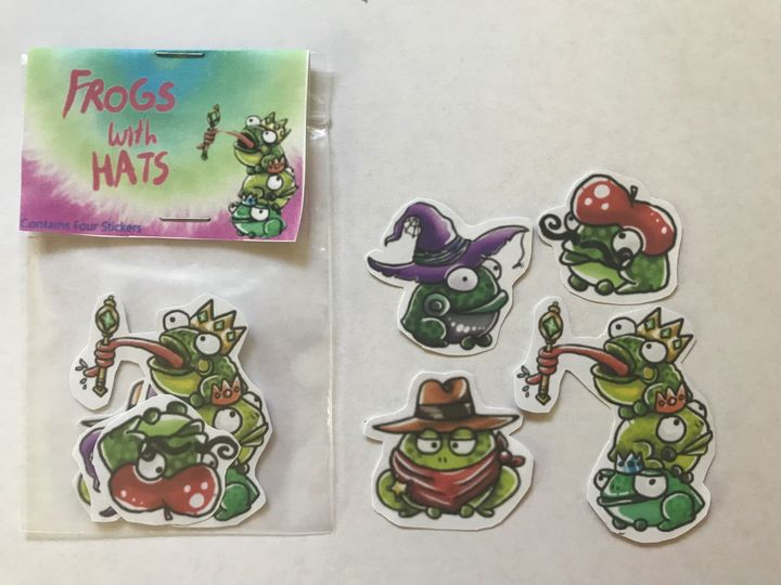 Frogs with hats - Burnt Toast and Paperclips