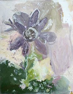 Abstract Flower Painting in Oil