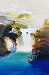 Fall like waterfall
