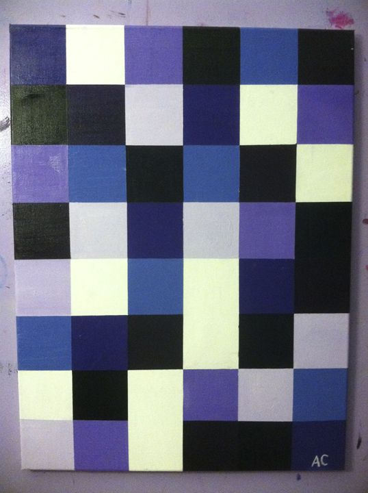 Purple Squares - Paintings by Adam Cottone