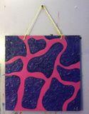 purple and pink giraffe print