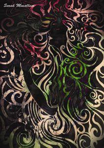 Vintage Art nouveau lady